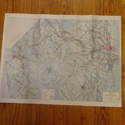 1952 PANAMA CANAL ZONE Topographical Street Road Map Engineer US Army Caribbean