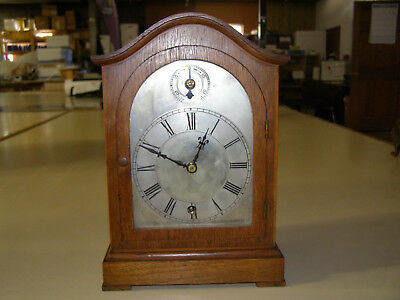Winterhalder Antique time only 8 day clock 1900s elegant with silver dial signed