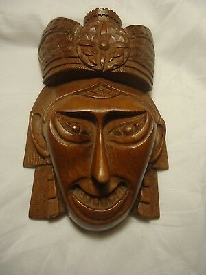 Vintage Chinese Asian red wood Masks hand carved