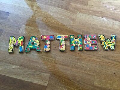 "wooden nursery letters ""Matthew"""