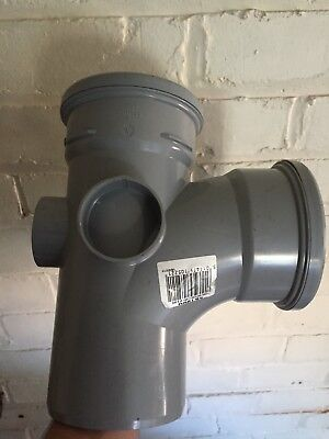 Soil Pipe 110mm Tee Branch White Double Socket