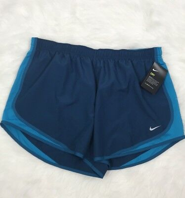 Women's New Nike Dri-Fit Plus Size Teal Athletic Tempo Shorts Size 1X