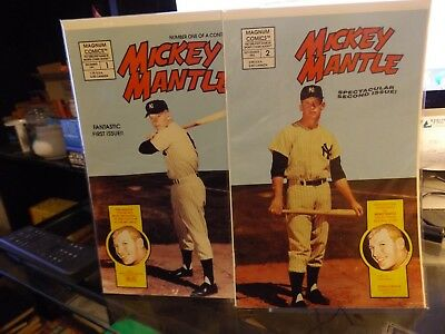 Mickey Mantle Comic Book -Lot Of 4--Appear Mint--All Different