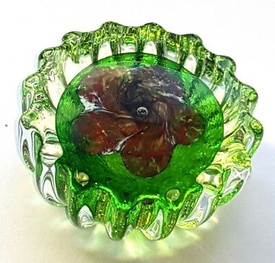 Unusual Small Caithness Glass Paperweight