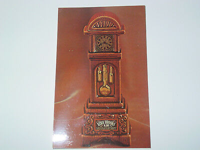EZRA BROOKS COLLECTIBLE POST CARD-Grandfather Clock-Heritage China Reproduction
