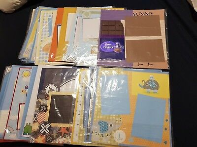 "50 X ""12x12"" Handmade BABY BOY Scrapbooking PAGES"