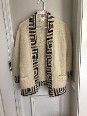 Vintage wool sweater hand knit in Italy Forbes & Wallace