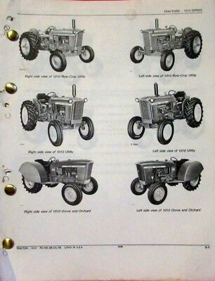 John Deere 1010 Series Tractors Parts Catalog