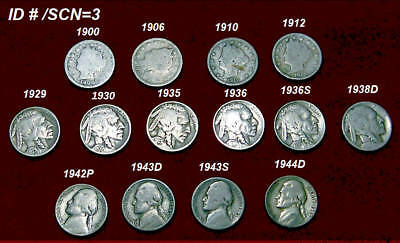 Mixed (14) Fourteen Coin Lot ~ U.s. Nickels
