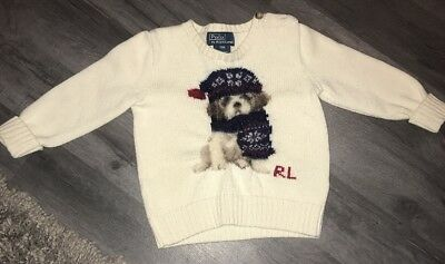 Beautiful Baby Boys Ralph Lauren Jumper New Without Tags 18 Months