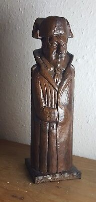 Very Rare Hand Carved Napoleon Figure With Hidden Compartment For Wine Bottle