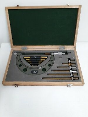 MITUTOYO 0-6 Inch MICROMETER SET NO 104-137 w/ STANDARDS