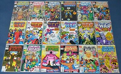 Infinity Gauntlet, War & Crusade #1,2,3,4,5,6 ~ All Complete ~ Thanos ~ Avengers