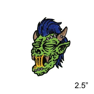Tattoo Artist Reed Zombie Embroidered Iron On Patch - Gothic Monster - 203-D