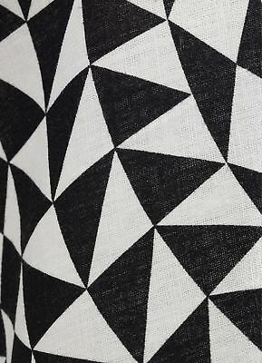 "Alexander Girard Vitra Tablecloth 67"" Round Black Geometric New In Box"
