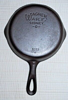 "Vintage #3 Wagner Ware Siidney O 1053 A (6 1/2"") Cast Iron Skillet Restored"