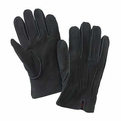 Dockers Mens Gloves Leather Sueded DeerSkin Knit Lining Black size L NEW