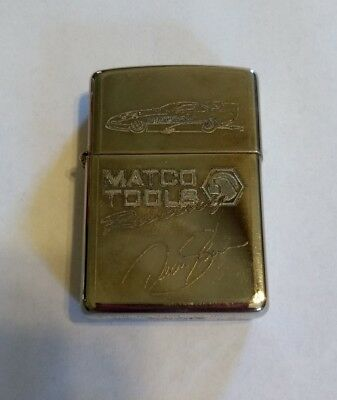 Zippo Lighter Matco Tools Racing Dean Skuza Silver Plated USED