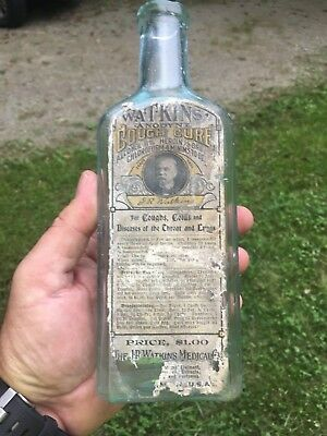 Watkins Cough Cure Labeled Medicine Heroin