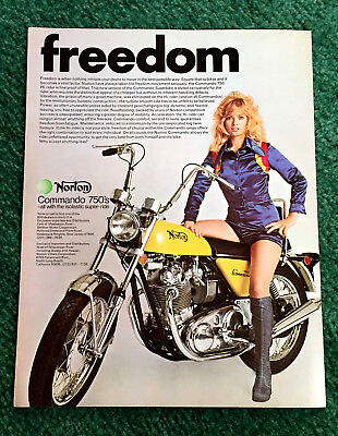 Original 1972 Norton Motorcycle Magazine Ad Hi-Rider 750 Commando Poster?