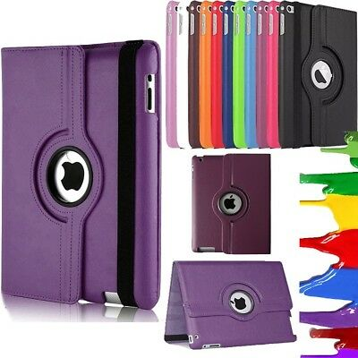 360 Degree Rotation Smart Leather Stand Case Cover For iPad 2017 2018  9.7 inch