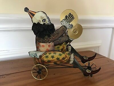 Bethany Lowe HALLOWEEN CIRCUS SKELLY ON BIKE NEW Skeleton
