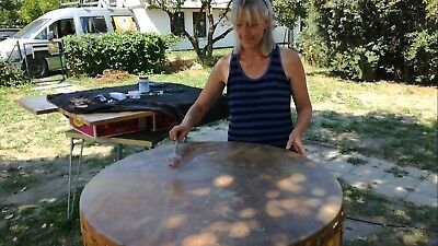 Pow-Wow 90 cm - Healing-Drum - wie Motherdrum Muttertrommel - lfd. Workshops