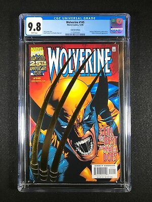 Wolverine #145 CGC 9.8 (1999) - Gold Foil Edition - Hulk & Sabertooth - NO RES!