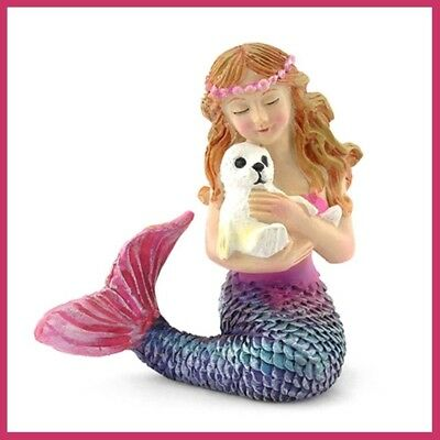 Miniature Dollhouse FAIRY GARDEN MERMAID and Seal  Beach Ocean Figurine 508 NEW