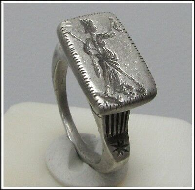 ** AMAZONS **Ancient Silver Roman GREEK Legionary Ring **AMAZING **13,94g