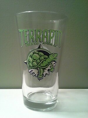 Brand New Terrapin Brewing Company Beer Ale Pint Glass Athens Ga Georgia Turtle