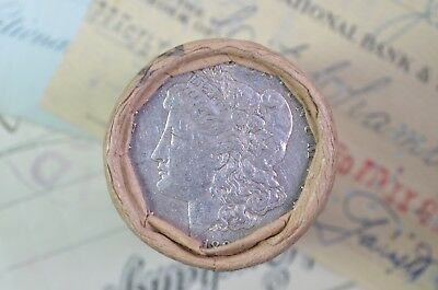 "$20 Morgan Silver Dollar Roll ""1890"" & ""O"" ends"