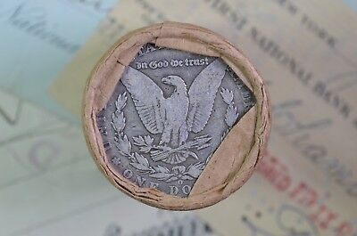 "$20 Morgan Silver Dollar Roll ""1896"" & ""O"" ends"
