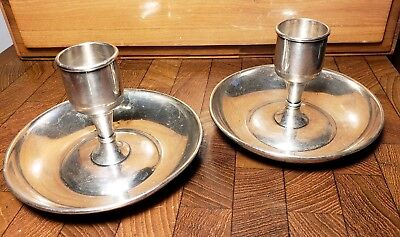Pair Of Antique 1800s Tiffany & Co. Silver Soldered Candle Holders