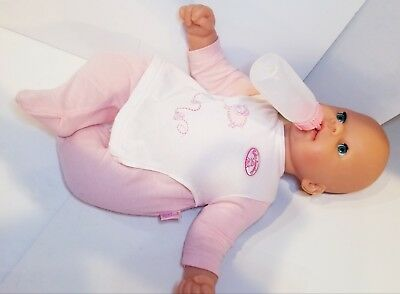 BABY ANNABELL DOLL Drinks Cries Tears Wets Bottle Dummy ...