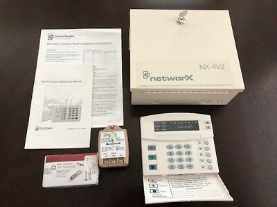 GE-NetworX-NX-4V2-Kit-Security-System-Control-box Keypad Wire Unused