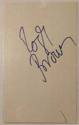 """Roger Brown signed 5x3"""" index card - ABA Pacers, Sounds, Stars auto (dec. 1997)"""