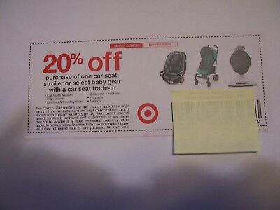 Target Coupon 20 Off Car Seat Stroller Expires 100618 SAVE BIG