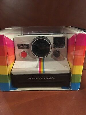 Vintage Polaroid SX-70 Camera Land Camera One Step Rainbow Stripe