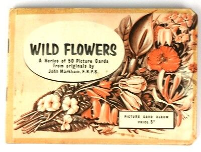 Brooke Bond Tea Card Album Wild Flowers Full Set of 50