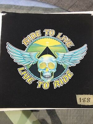 Vintage 70s Ride To Live Live To Ride Iron On Transfer