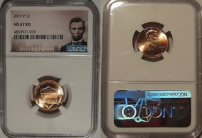 2017 P Lincoln SHIELD 1C NGC MS67RD Lincoln Label FIRST LINCOLN WITH P MINT MARK