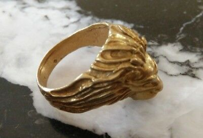 rare ancient solid ring bronze viking beautiful bronze ring authentic amazing