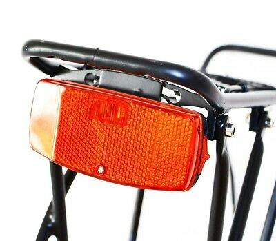 Red Bicycle Rear Light Battery Powered Rack Lamp Bike Cycling Safety Accessories