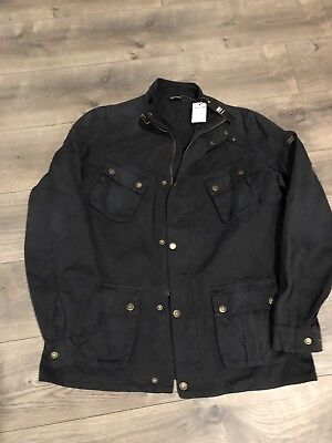 New Barbour International Rumble Casual Jacket Men's Navy Size XL
