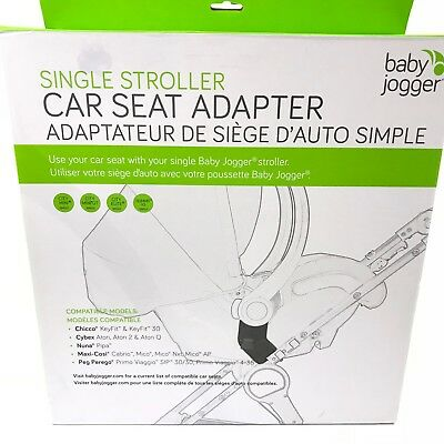 Baby Jogger Single Stroller Car Seat Adapter Chicco Cybex Peg Perego Nuna
