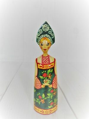 Russian Doll Vintage Folk Art-Vintage Russian Christmas Ornament-Handmade