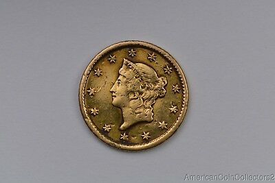 1853 $1 Liberty Head GOLD Dollar Coin Look NO RESERVE Gold $   11919