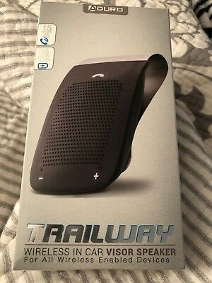 New! Aduro Trailway Wireless Bluetooth Car Visor Speaker - Phone Music