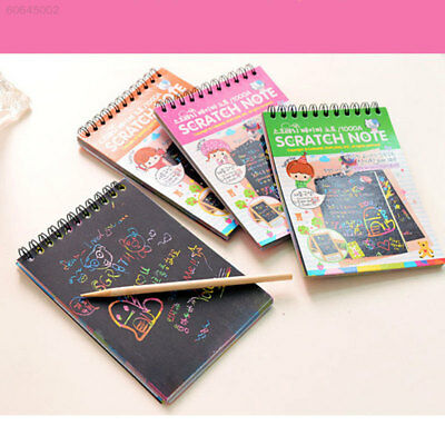 BC46 Magic Scratch Art Painting Book Paper Paintings Colorful Educational Toys